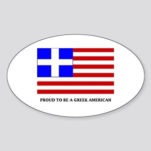 Proud to Be Greek American Sticker (Oval)