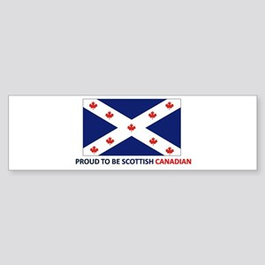 Proud to be Scottish Canadian Sticker (Bumper)