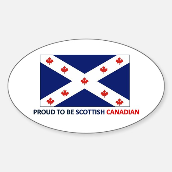 Proud to be Scottish Canadian Sticker (Oval)