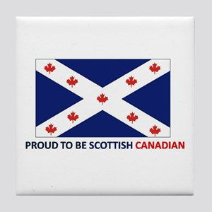 Proud to be Scottish Canadian Tile Coaster
