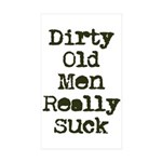 Dirty Old Men Really Suck Sticker (Rectangle 50 pk