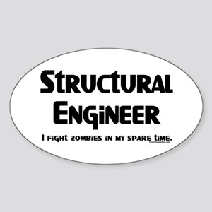 Structural Zombie Fighter Sticker (Oval)