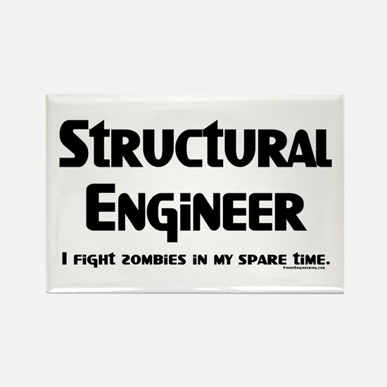 Structural Zombie Fighter Rectangle Magnet