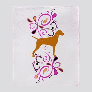 Red Headed Weims! Throw Blanket