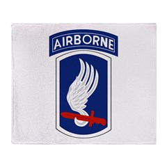 173rd Airborne Bde Throw Blanket