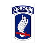 173rd Airborne Bde Sticker (Rectangle 50 pk)