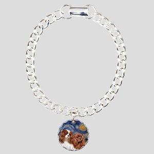 Starry/2 Cavalier (Bl+R) Charm Bracelet, One Charm