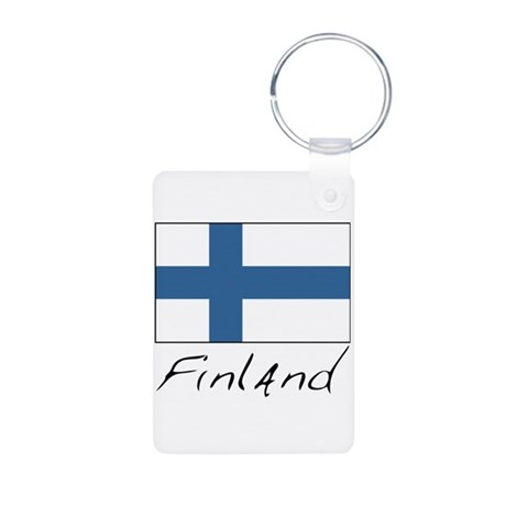 Finland (Flag, International) Aluminum Photo Keych