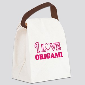 I Love Origami Canvas Lunch Bag