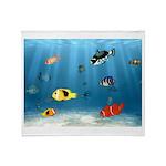 Oceans Of Fish Throw Blanket