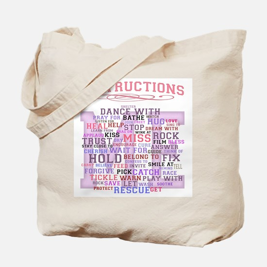 Baby Care Instructions Tote Bag