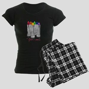 lipstick lesbian Women's Dark Pajamas