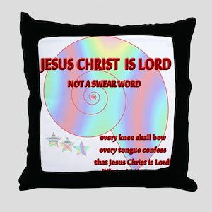 Not A Swear Word Throw Pillow