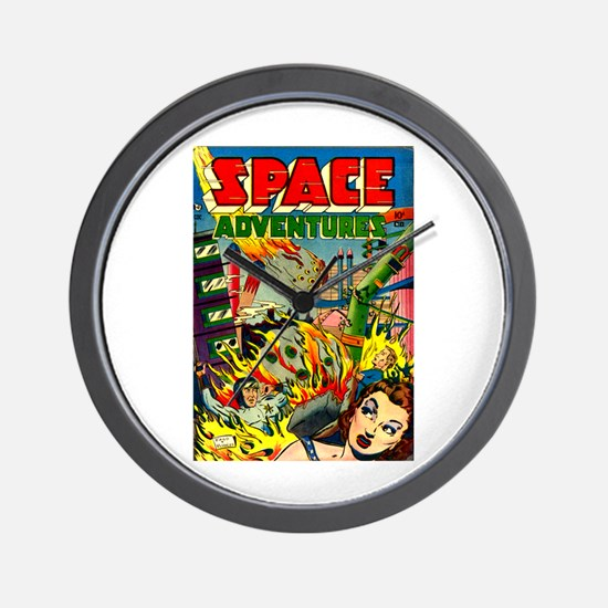 Space Adventures Wall Clock