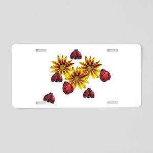 Ladybug Party Aluminum License Plate