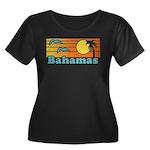 Bahamas Women's Plus Size Scoop Neck Dark T-Shirt