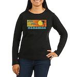 Bahamas Women's Long Sleeve Dark T-Shirt