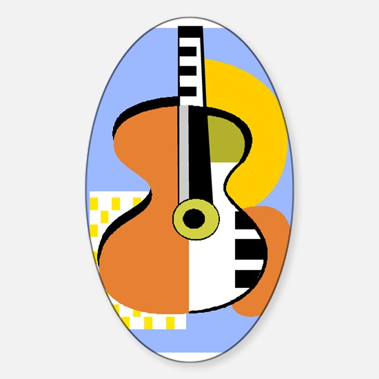 Guitar2 Oval Decal