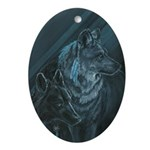 Wolves Ornament (Oval)