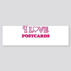 I Love Postcards Bumper Sticker