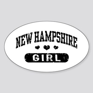 New Hampshire Girl Sticker (Oval)