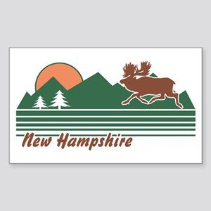 New Hampshire Sticker (Rectangle)