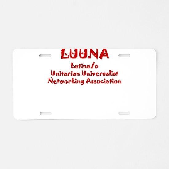 Unitarian Aluminum License Plate