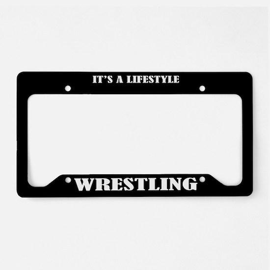 Wrestling Sports License Plate Holder Frame