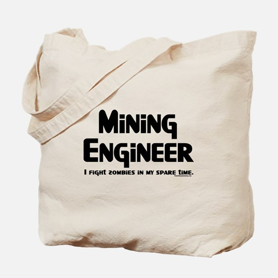 Mining Zombie Fighter Tote Bag