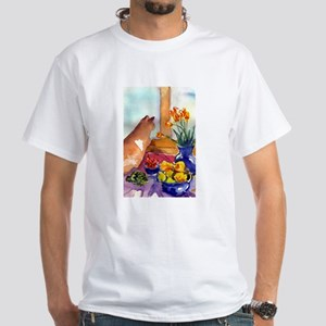cat still life White T-Shirt