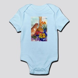 cat still life Infant Bodysuit