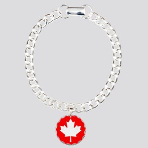 Canadian Flag Charm Bracelet, One Charm