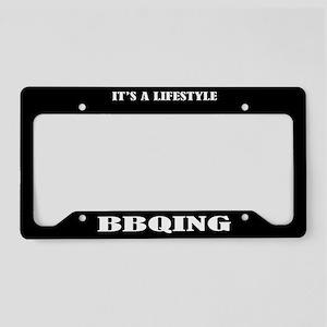 BBQing Gift License Plate Holder Frame