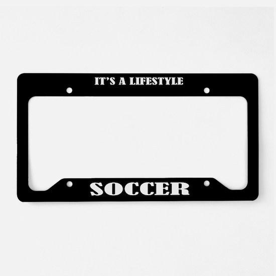 Soccer Sports License Plate Holder Frame