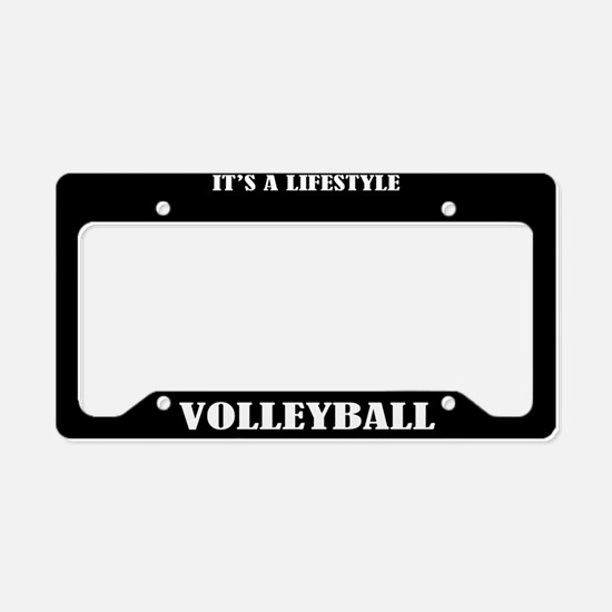 Volleyball Sports License Plate Holder Frame
