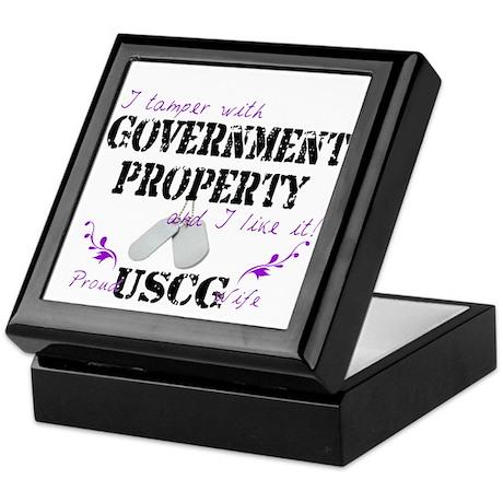 Tamper w Gov Property USCG Wife Keepsake Box