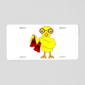 Swim Chick Aluminum License Plate