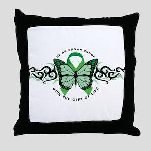 TCH Organ Donor Tribal Throw Pillow