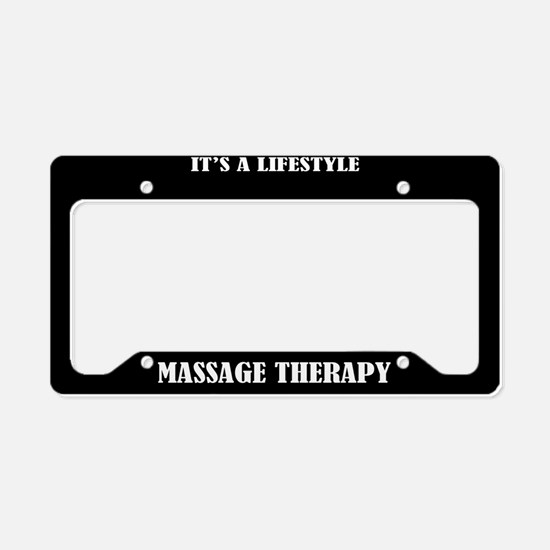 Massage Therapy Gift License Plate Holder Frame