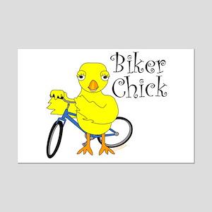 Biker Chick Text Mini Poster Print
