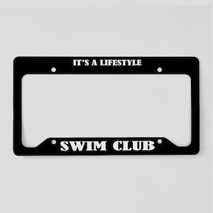 Swim Club Sports License Plate Holder Frame
