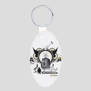 HIfi Aluminum Oval Keychain