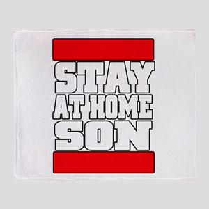 Stay at home Throw Blanket