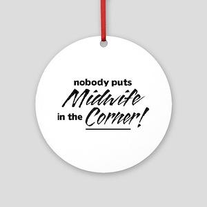 Midwife Nobody Corner Ornament (Round)