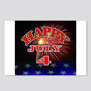 Happy July 4 Postcards (Package of 8)