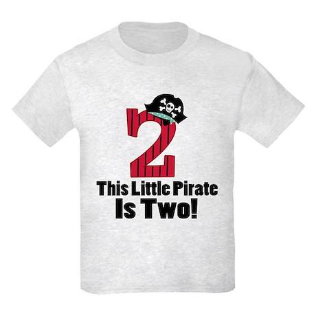2nd Birthday Pirate Kids Light T-Shirt