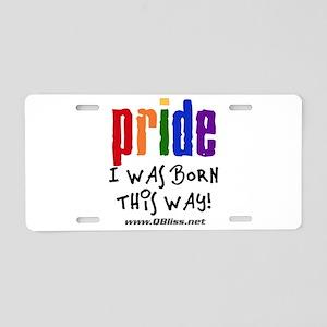 QBliss Pride/BTW 2011 - Aluminum License Plate