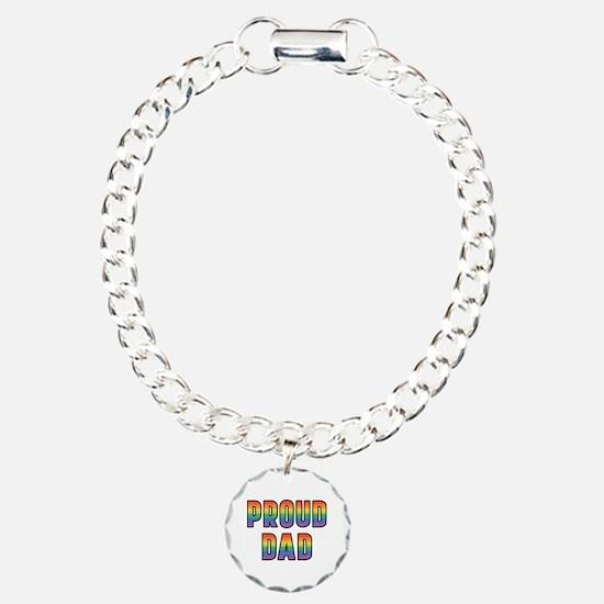 GLBT Rainbow Proud Dad Bracelet
