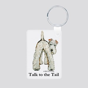 Wire Fox Terrier Tail WFT Aluminum Photo Keychain