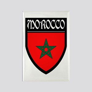 Morocco Flag Patch Rectangle Magnet